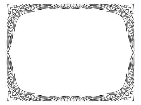 Vector calligraphy penmanship ornamental deco frame pattern Stock Vector - 17476190