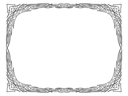 Vector calligraphy penmanship ornamental deco frame pattern Stock Vector - 17476190