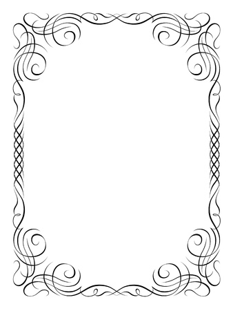 borderframe:  calligraphy penmanship ornamental deco frame pattern