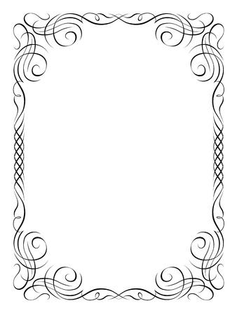 kalligrafie handschrift sier deco frame patroon Stock Illustratie