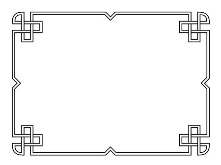 Roman style black ornamental decorative frame pattern isolated 일러스트