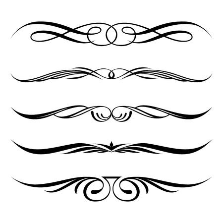 Reihe von dekorativen Elementen, Grenz-und Frame-Seite Regeln Vektorgrafik