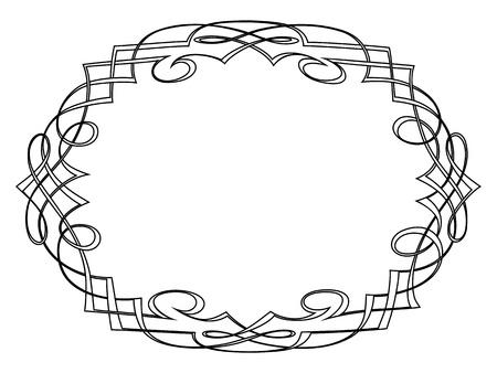 penmanship: calligraphy penmanship ornamental deco frame pattern Illustration