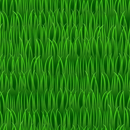 lawn mowing: green grass in line seamless vector background