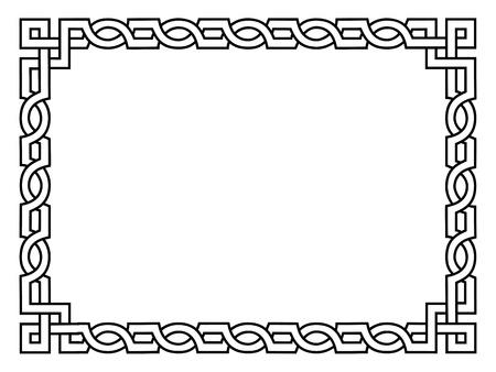 refine: Nero stile ornamentale cornice decorativa romana isolata
