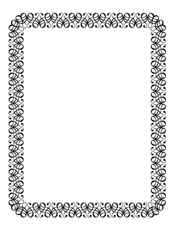 penmanship: Vector calligraphy penmanship ornamental deco frame pattern Stock Photo