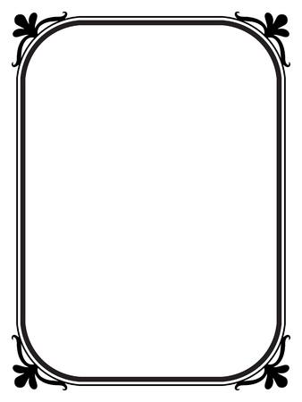 simple border: Vector simple black calligraph ornamental decorative frame pattern