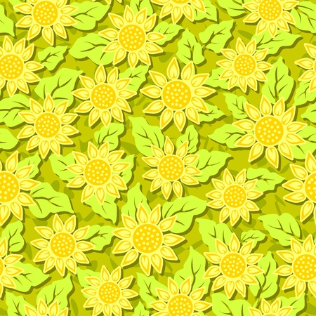 yellow sunflower flower seamless background pattern photo
