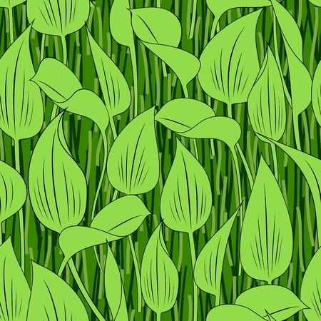 bog: seamless green grass bog leaf background