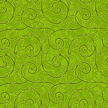 liana: Seamless abstract green liana twisted tendril background