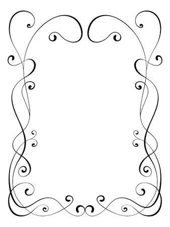penmanship: calligraphy penmanship ornamental deco frame pattern Stock Photo