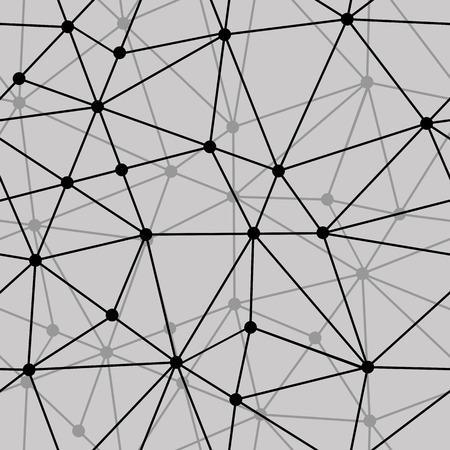 Vector abstracte zwart en wit net naadloze achtergrond