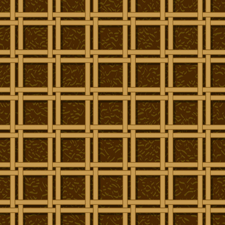 wicker basket weaving pattern, seamless texture background Vector