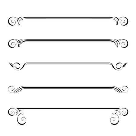 Vector Reihe von dekorativen Elementen, Grenz-und Frame-Seite Regeln Vektorgrafik