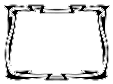 Vector art nouveau black modern ornamental decorative frame Vector