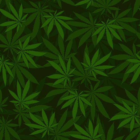 Cannabis seamless pattern