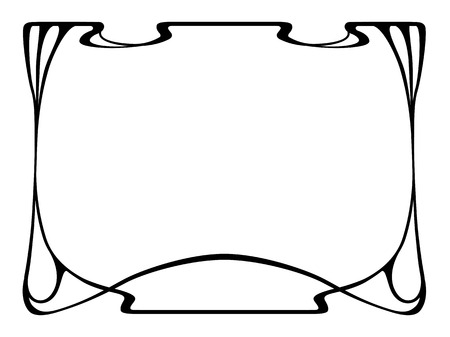 Vector art nouveau black modern ornamental decorative frame Vector