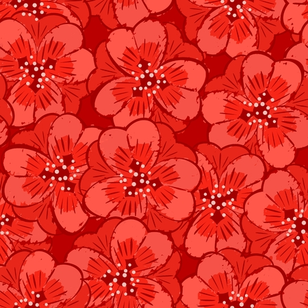 petal: abstract red flowers petal seamless background pattern Illustration