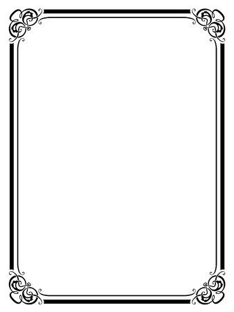 penmanship: Vector calligraphy penmanship ornamental deco frame pattern Illustration