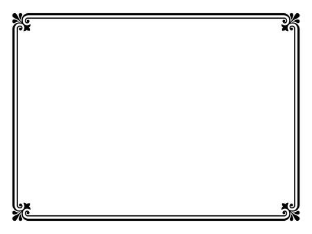 decoration design: Vector negro simple calligraph ornamentales patr�n de marco decorativo Vectores