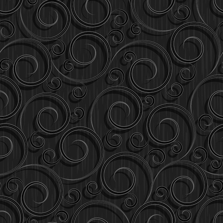 abstract wallpaper: seamless black floral abstract wallpaper pattern background