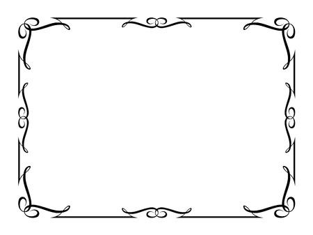bordes decorativos: caligrafía, la caligrafía ornamental deco marco de patrón de