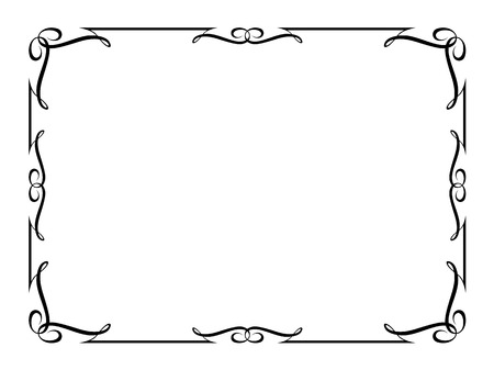 border line: calligraphy penmanship ornamental deco frame pattern Illustration