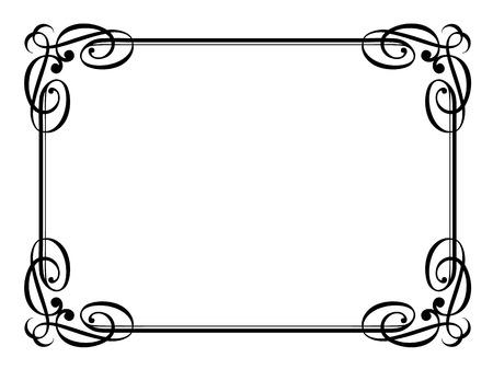 calligraphy penmanship ornamental deco frame pattern 일러스트