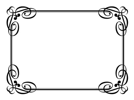 calligraphy penmanship ornamental deco frame pattern Illustration