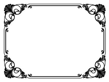 Kalligrafie kalligrafie krullend barok frame zwarte geïsoleerde Stockfoto - 33802461