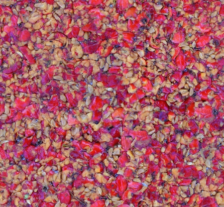 crimped: seamless crushed pressed berries cake background pattern