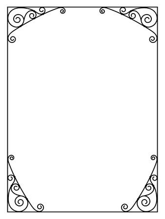 ornamental decorative black frame