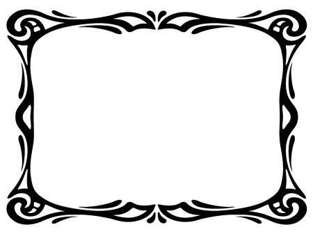 black modern ornamental decorative frame Illustration