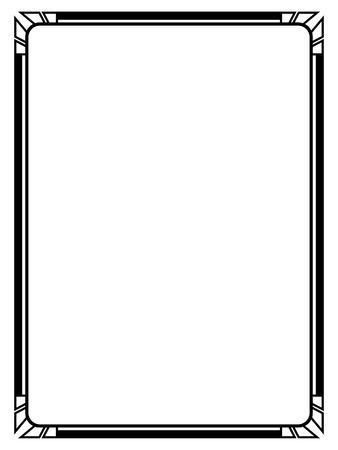 Vector Art Deco black calligraph ornamental decorative frame pattern 일러스트