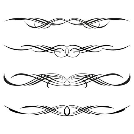 grecas: Conjunto de vector de elementos decorativos, frontera y página reglas de marco