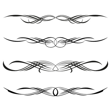 Vector set of decorative elements, border and page rules frame Illustration