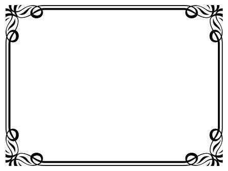 calligraph: Vector Art Deco black calligraph ornamental decorative frame pattern Illustration