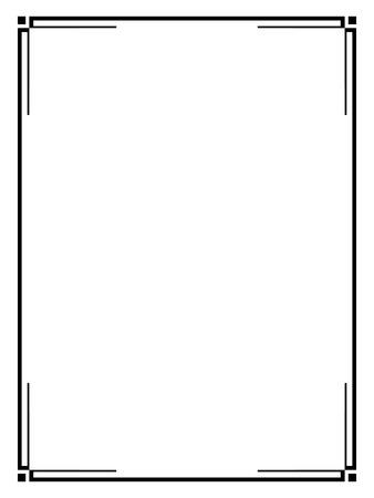 Vector Art Déco calligraph noir ornement modèle de cadre décoratif Banque d'images - 44656889