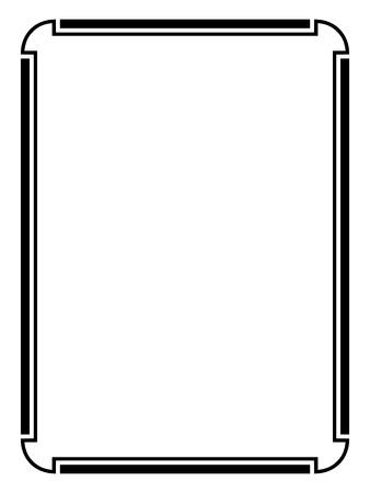 calligraph: Vector simple black calligraph ornamental decorative frame pattern