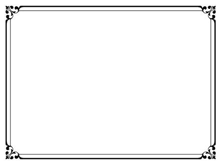 sencillo: Vector sencilla calligraph negro patrón de marco decorativo ornamental