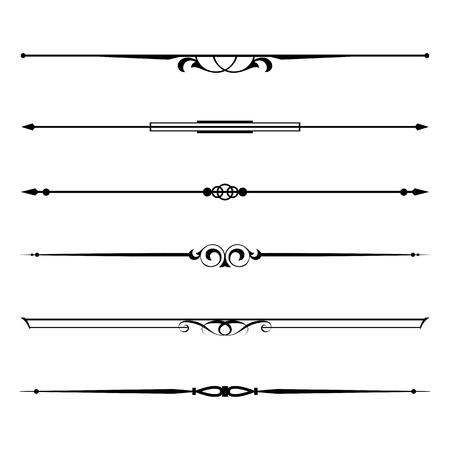 Vector set van decoratieve elementen, de rand en de pagina regels frame