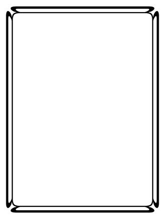 Vector semplice Calligraph nero ornamentale cornice decorativa Archivio Fotografico - 46136855
