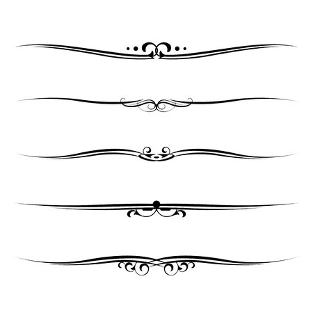 bordure de page: Vector set d'éléments décoratifs, des frontières et la page des règles frame