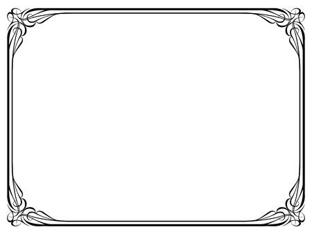 marcos decorativos: Vector caligrafía caligrafía patrón de marco ornamental deco Vectores