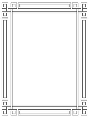 dekoration: Römischen Stil schwarz ornamentalen dekorativen Rahmen Muster isoliert Illustration