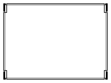 Vector Art Déco calligraph noir ornement modèle de cadre décoratif Banque d'images - 47891852