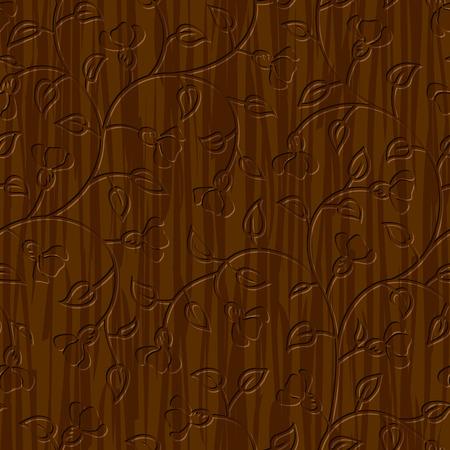 tallado en madera: madera tallada abstracta transparente fondo floral ornamento