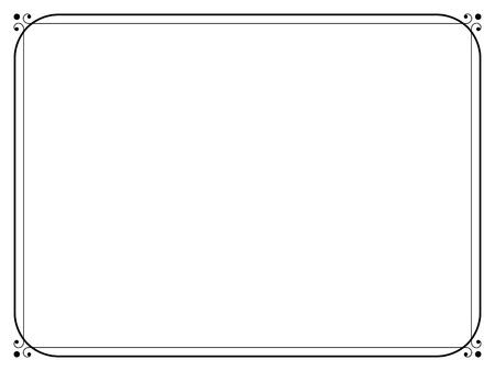 Vector eenvoudige zwarte calligraph sier decoratief kader patroon Stockfoto - 53556133