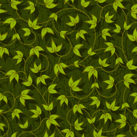liana: floral liana leaves abstract seamless background texture pattern