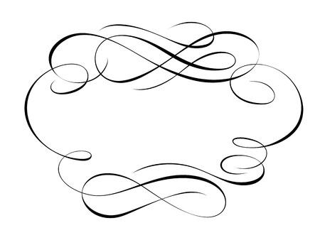 Vector calligraphie calligraphie motif cadre déco ornemental